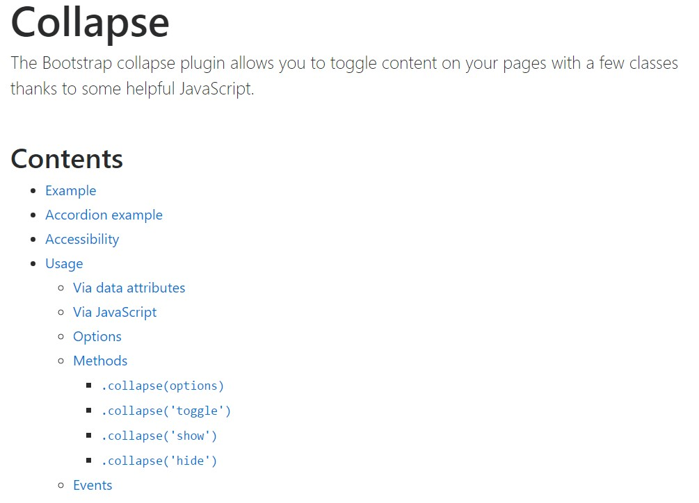 Bootstrap collapse  main  documents
