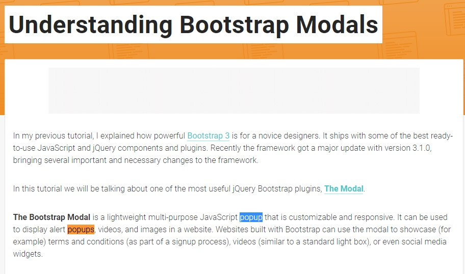 Yet another useful article  regarding to Bootstrap Modal Popup