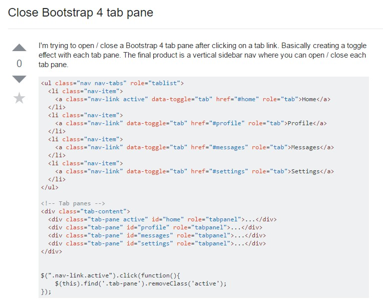 Exactly how to  close up Bootstrap 4 tab pane